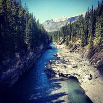 River at Lake Minnewanka, Banff National Park