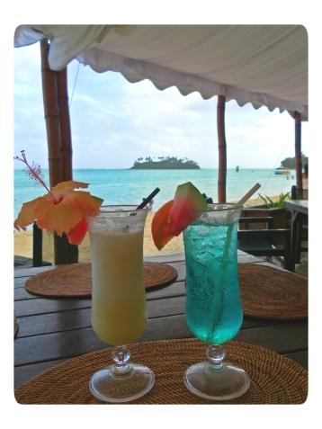 Cocktails at Muri Lagoon, Rarotonga