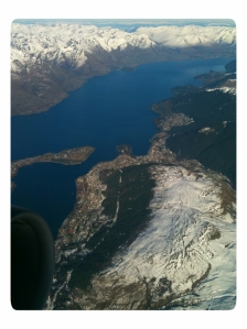 View of Queenstown from our plane
