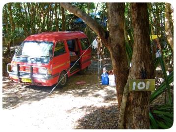 Our Van in Byron Bay