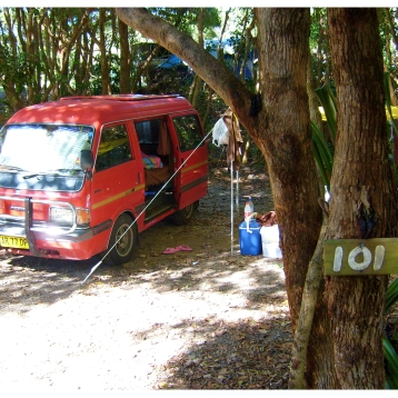 Our Van in Byron Bay