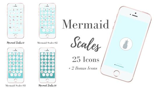 Mermaid Scales Icons