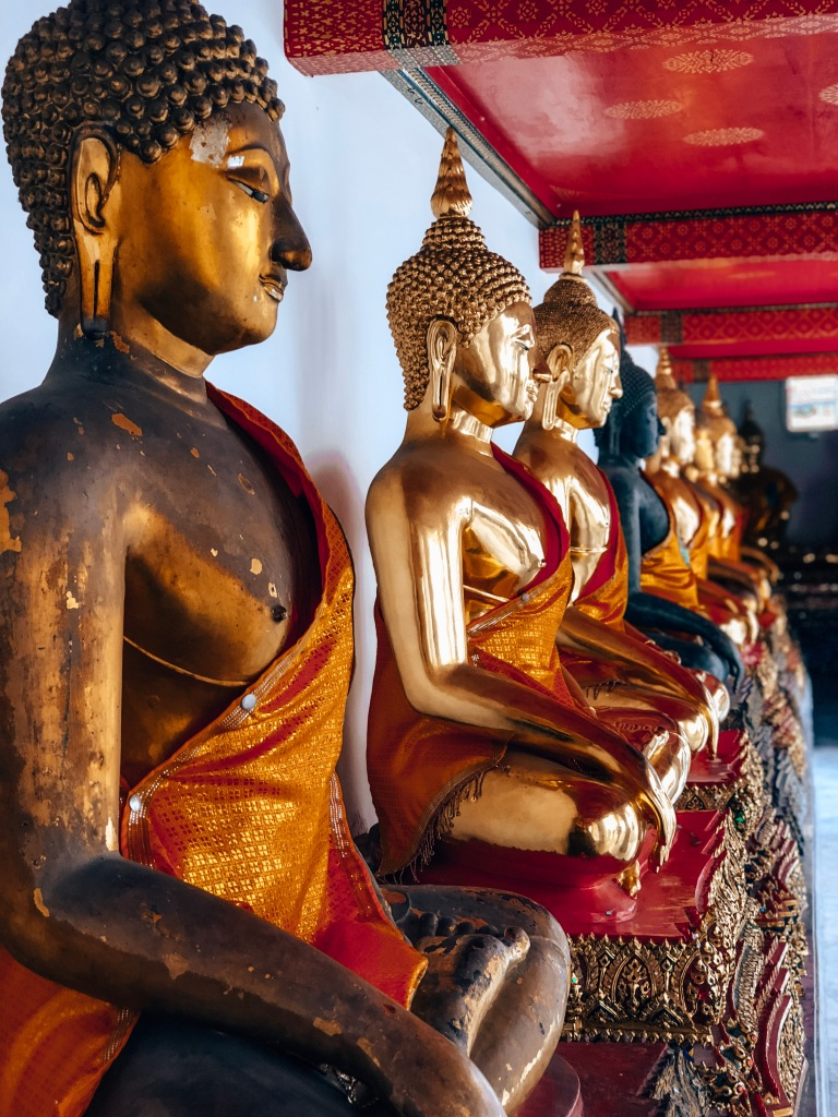 Buddha statues, Wat Pho Temple, Bangkok