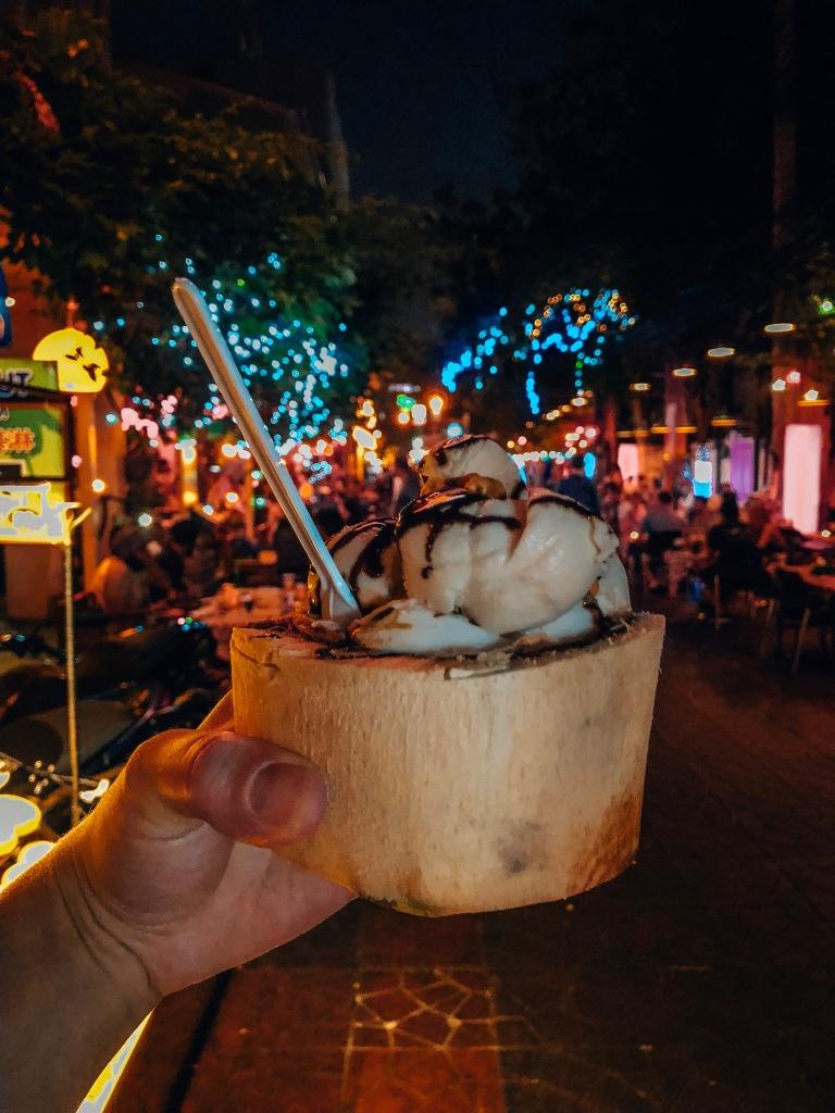 Fresh Coconut Ice Cream, Bangkok