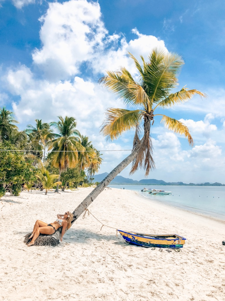 Palm trees on Sivalai Beach, Koh Mook, Thailand