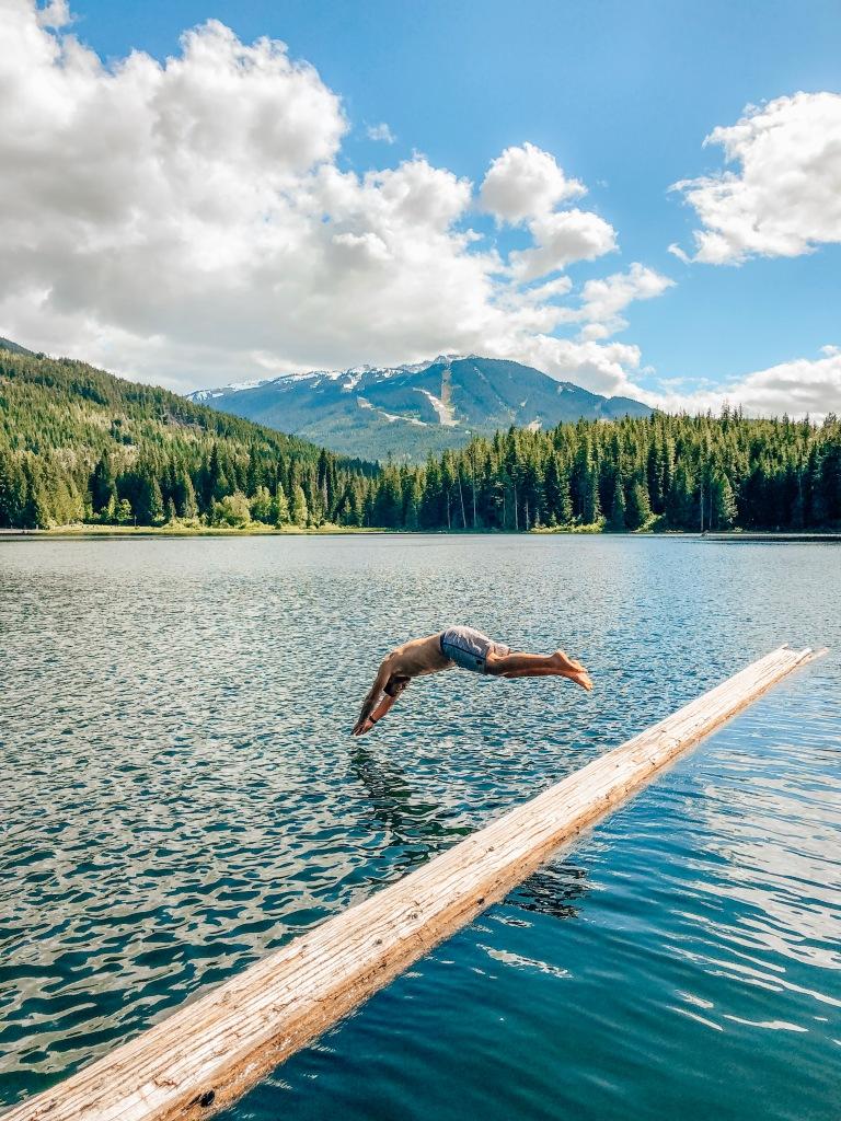 Swimming Lost Lake Whistler