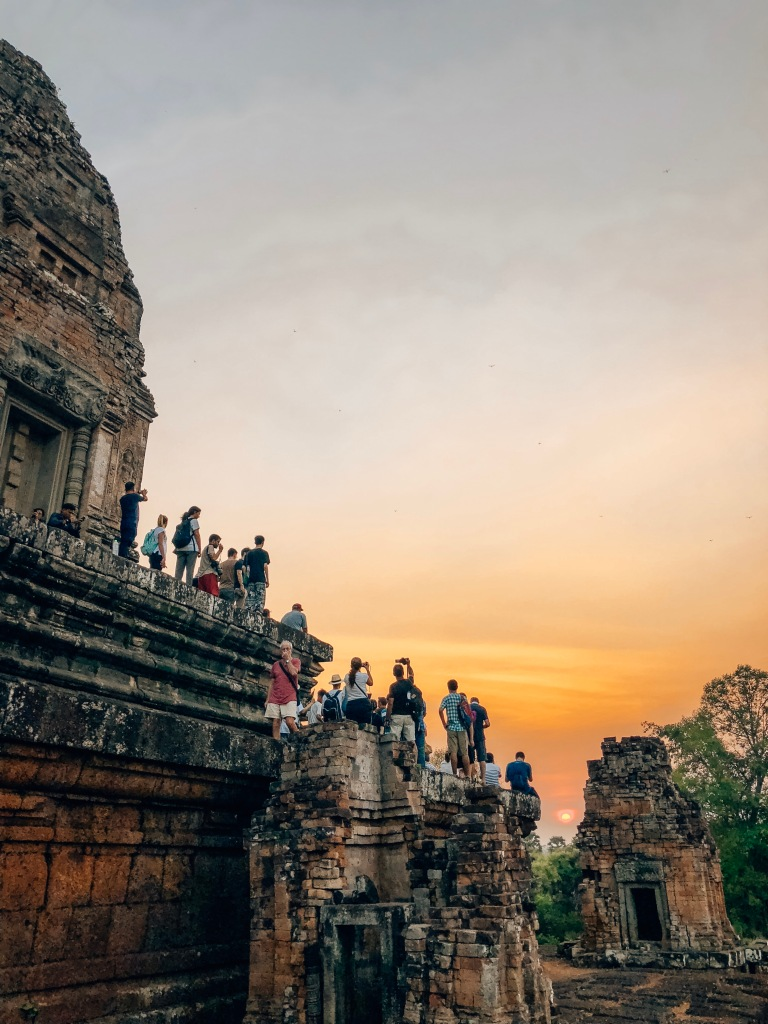 Sunset at Temples in Siem Reap