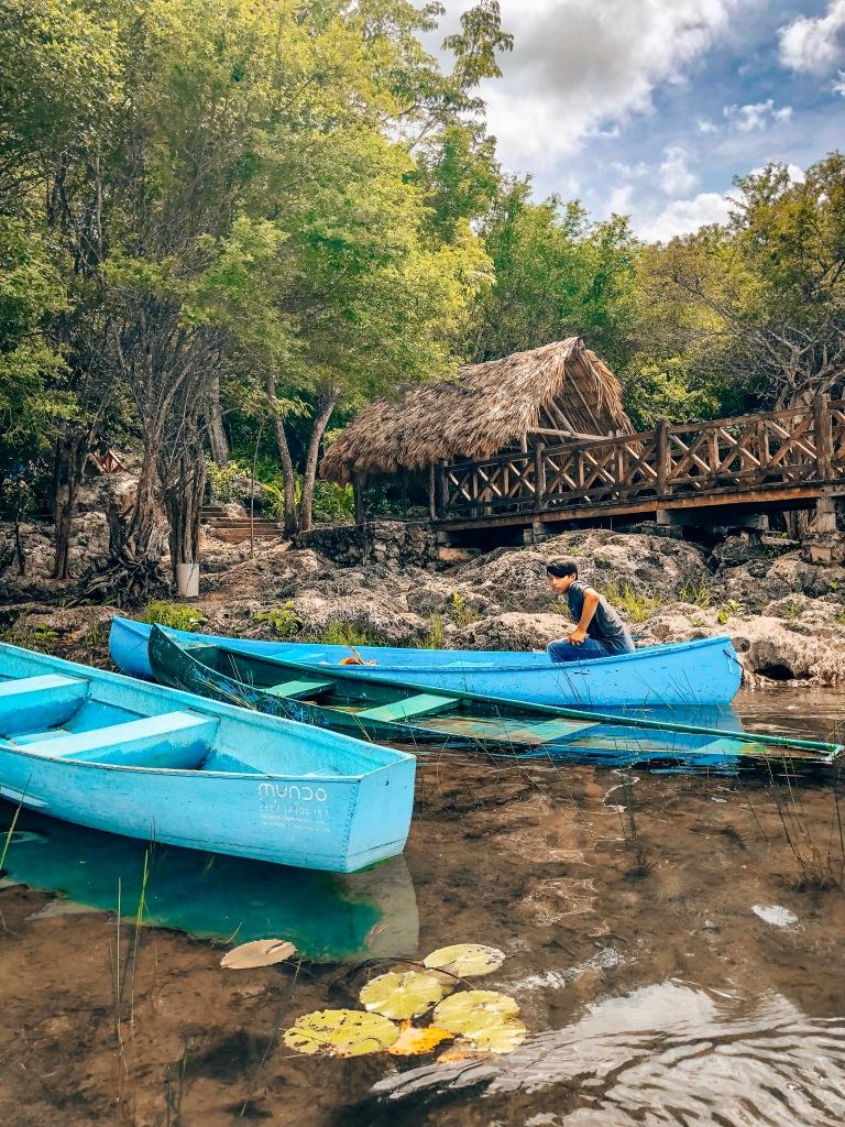 Canoe in Punta Laguna